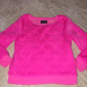Hot Pink Girls Hearts Long Sleeve